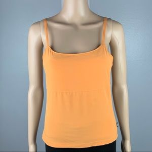 THE NORTH FACE Small Orange Built-In-Bra Tank Top